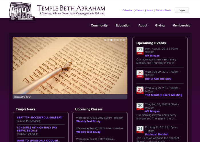 Temple Beth Abraham - tbaoakland.org/