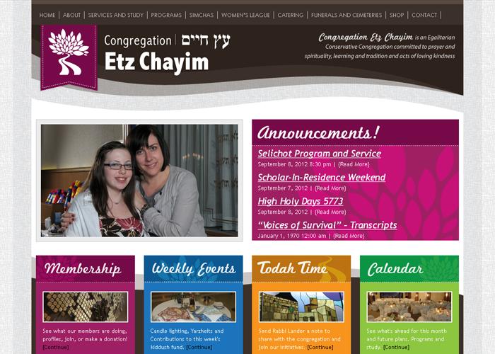 Congregation Etz Chayim - congregationetzchayim.ca