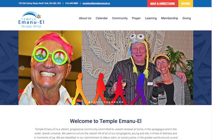 Temple Emanu-el - best synagogue website