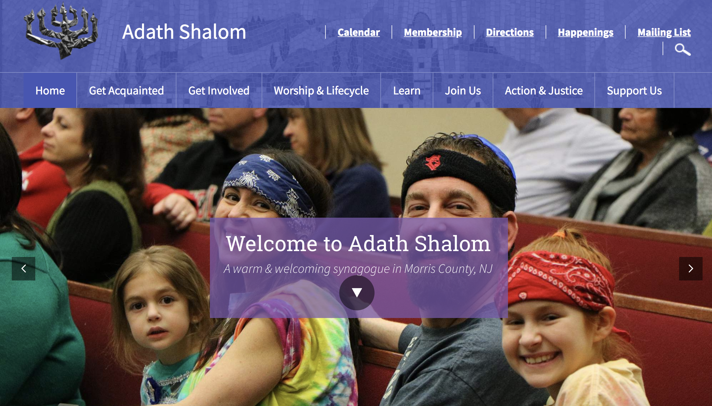 Adath Shalom homepage