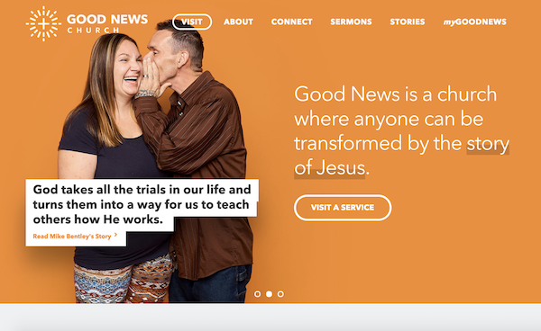 Good News Church - synagogue websites