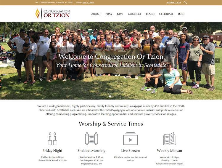 congregation or tzion - shulcloud and wordpress