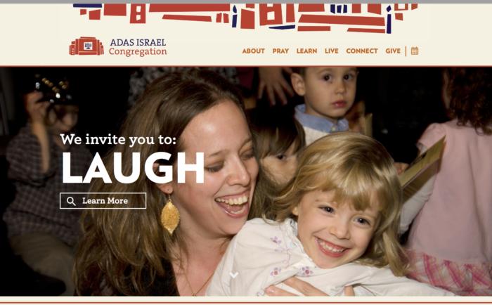 Adas Israel - best conservative synagogue website