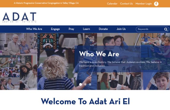 Adat Ari El- best conservative synagogue website