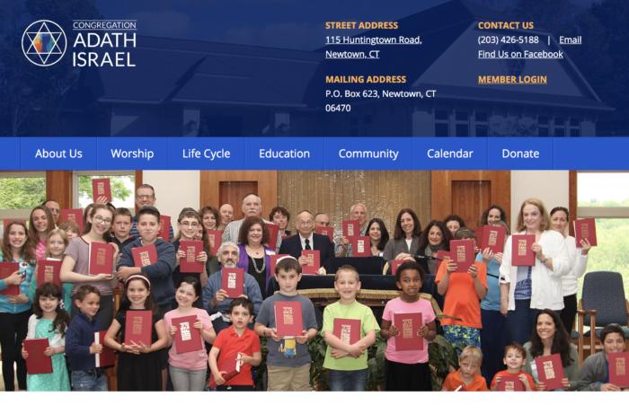Adath-Israel - synagogue website design