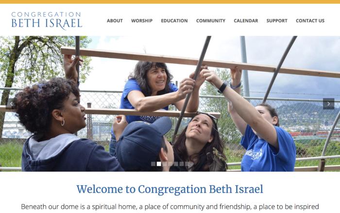 Congregation-Beth-Israel-Best-Synagogue-Website-design
