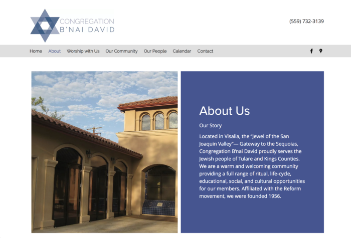 Congregation-Bnai-David-best-synagogue-website-design