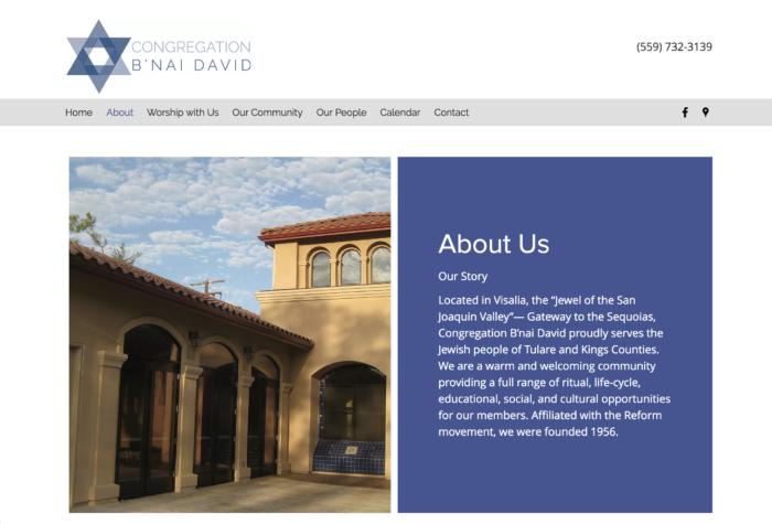 Congregation-Bnai-David-best-synagogue-website-design