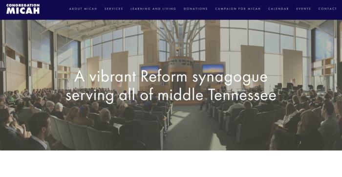 Congregation-Micah-Tennessee-best-reform-temple-website-design