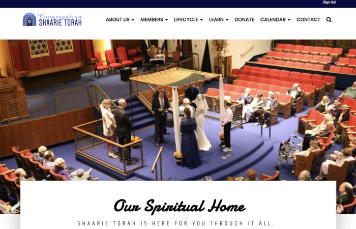 Shaarie-Torah- best synagogue website