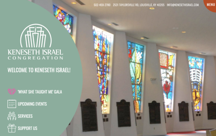 Kenesth Israel synagogue website design