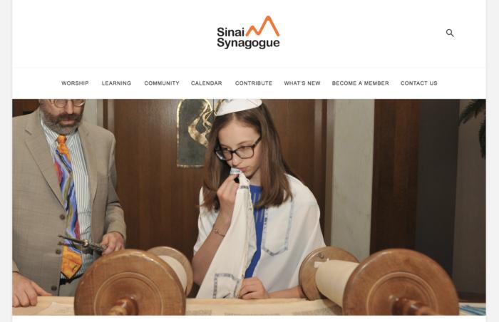 Sinai Synagogue website