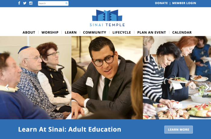 Sinai Temple best synagogue website