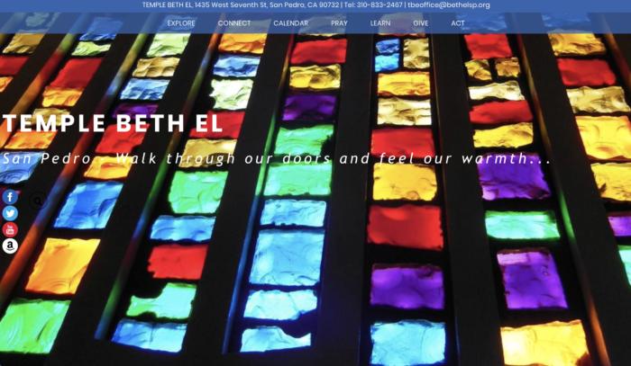 Temple-Beth-El-San-Pedro-Best-Synagogue-Website-Reform