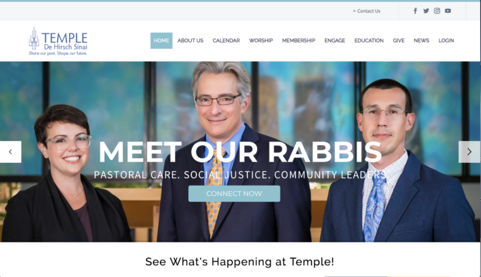 Temple De Hirsch Sinai, Seattle Washington - best Reform Temple website