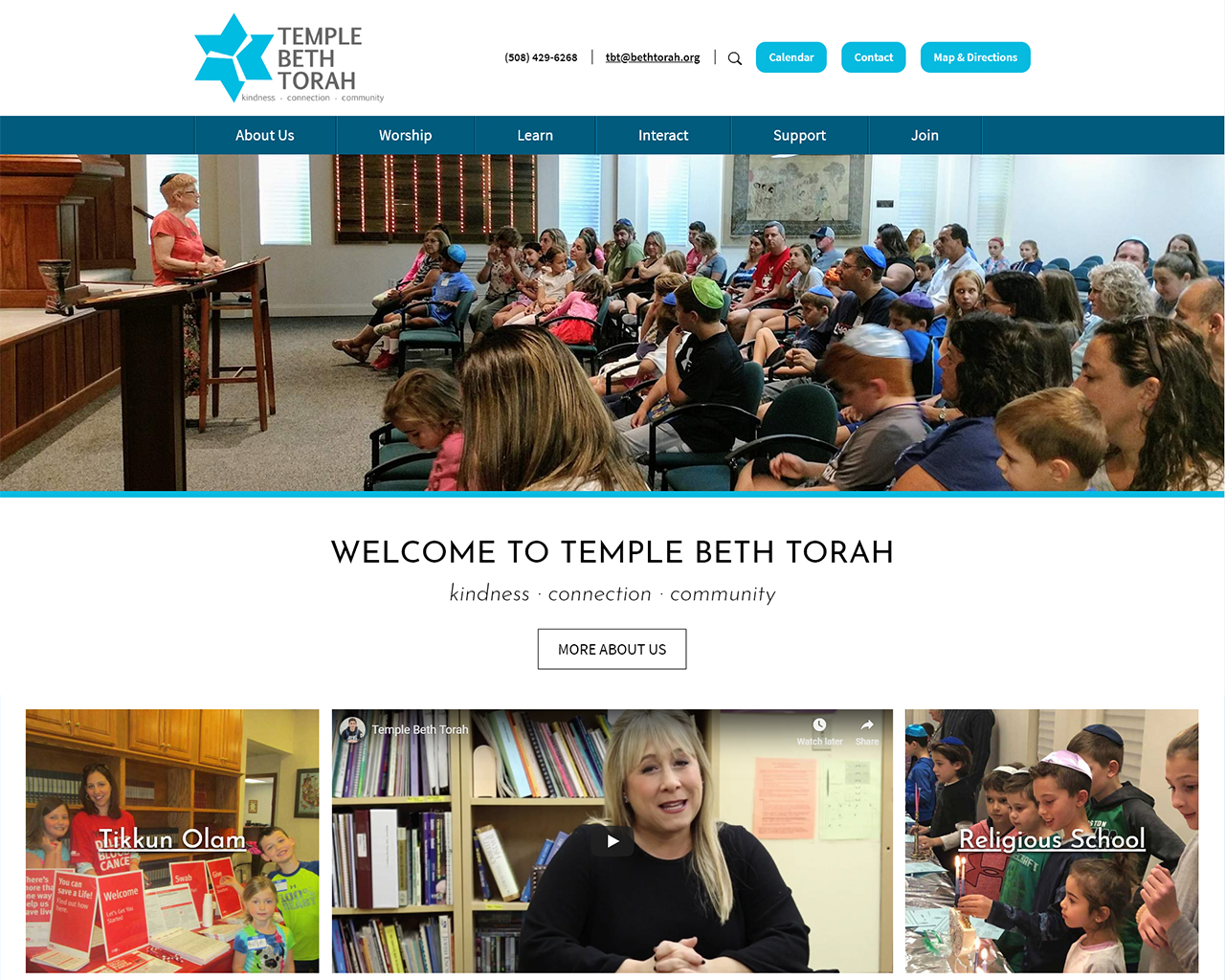 Temple Beth Torah - synagogue website